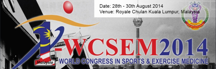 World Congress in Sports & Exercise Medicine WCSEM 2014